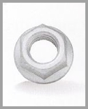 hexagon flange nuts with serration DIN 6923 fasteners chennai